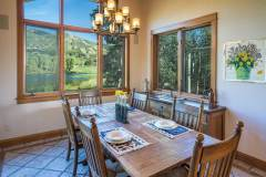 Photos of the breakfast dining room at 1160 Fairway Woods Drive, Steamboat Springs, CO