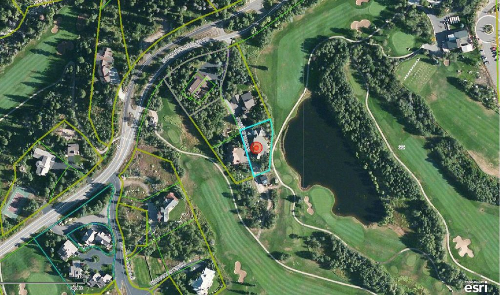 Close-Up Aerial Image of 1160 Fairway Woods Drive, Steamboat Springs, CO